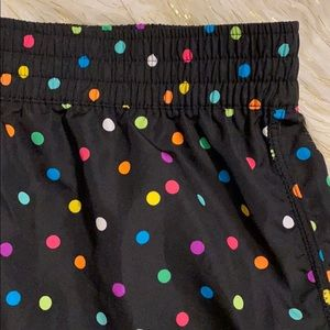 OP polka dot drawstring wind shorts/running shorts